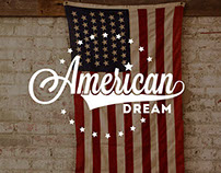 American Dream. Logo, brochure