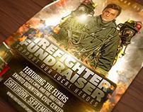 Fire Fighter Fundraiser Flyer Template