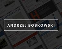 Andrzej Bobkowski - Case study of web design