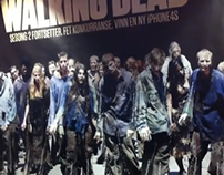 Walking Dead tear off poster. Shortlist Cannes Lions.