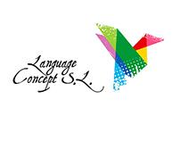 Разработка логотипа для школы Language Concept S.L.