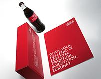 Festbrochure & Flasche Coca-Cola Hellenic in Edelstal