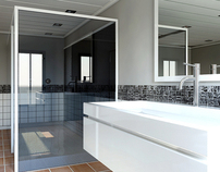 3D Architectural Visualisation - Bathroom Design