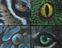 Animal Eyes 12 canvas serie