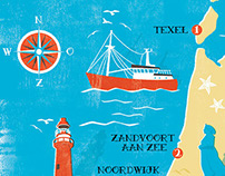 Map of the Dutch coast