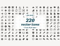 220 Vector Icons Freebie