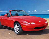 Mazda MX-5, car illustration (1993)