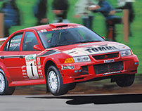 Mitsubishi Lancer Evolution VI, car illustration (2002)