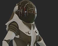 Female Space Suit