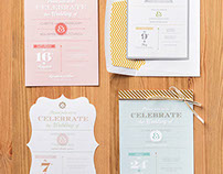Wedding themed stamp set