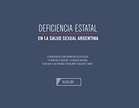 Deficiencia estatal en la salud argentina