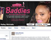 Baddies International Polaroid Collage FB Cover