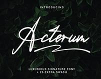 Acterum Signature Font