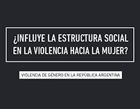 Violencia de género en Arg / Interfaz de información