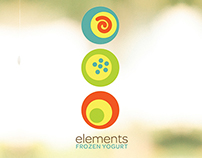Elements Frozen Yogurt Cup Design