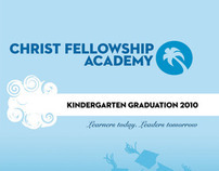 Christ Fellowship Academy Graduation DVD labels design