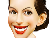 Caricature Anne Hathaway