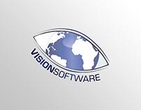 Vision Software   Logo, Business Card & FLyer