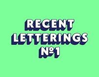 Recent Letterings