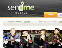 Sendme Mobile Website design