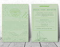 Invitation Design – Greenpeace New Zealand