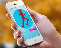 Mary Runs iPhone App - UI Design
