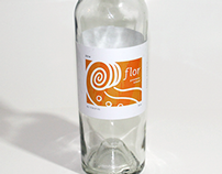 Flor Wine Label