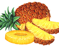 Pineapple & Banana Illustrations from Past 25 Years.