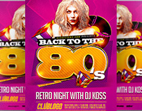 80's Flyer Template