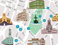 Map- Auckland Free Walking Tours