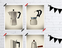Ten Vintage Italian coffee makers