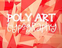 Low Poly Art Typography Set