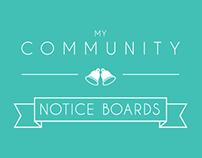 My Community Notice Board - Website
