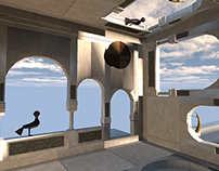 Escher Inspired Game Environment