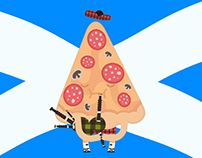 Kilts! Bagpipes! Pizza!