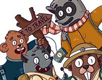 Character Design/travel heroes