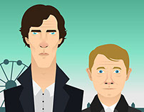 Sherlock Illustration Process
