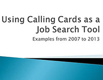 2007-2013 Calling Card Examples