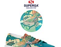 Superga X CJroblue