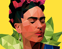 Frida Kahlo - Low poly