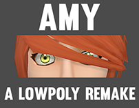 Amy (Remake of a lowpoly model)