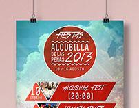 Cartel Fiestas Alcubilla 2013