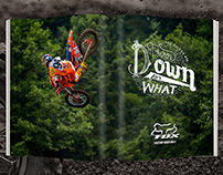 Hand Lettered Badge Ad for Fox Racing