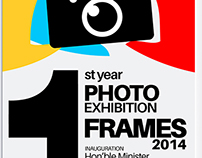 Frames -2014 Photography Exhibition Broucher Design