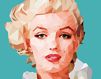 Marilyn Monroe - Low poly