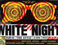 White Night @ The Attic (gig poster)