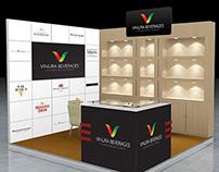 Stall backdrop design for Vinura Beverages