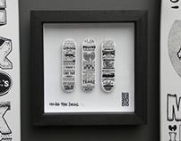 Hip Hop Type Deck miniatures box frame