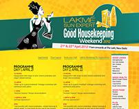 Good Housekeeping weekend event microsite