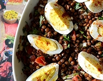 Food photography/Lentil salad